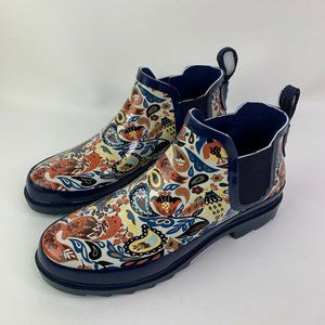 The Sak Womens Sakroots Rhyme Ankle Rainboots Blue